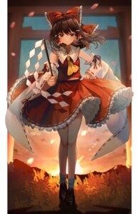 Rating: Safe Score: 37 Tags: abandon_ranka hakurei_reimu japanese_clothes skirt_lift touhou User: Dreista
