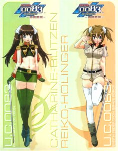 Rating: Questionable Score: 19 Tags: catharine_blitzen gundam gundam_0083_card_builder pantsu reiko_holinger see_through thighhighs uniform yoshizaki_mine User: admin2