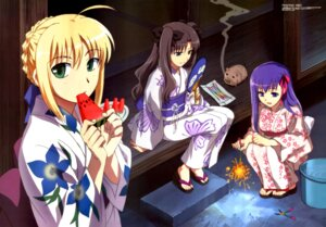 Rating: Safe Score: 15 Tags: emori_mariko fate/stay_night kimono matou_sakura saber toosaka_rin User: admin2