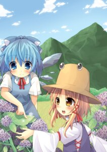 Rating: Safe Score: 17 Tags: cirno moriya_suwako oruton touhou User: Nekotsúh
