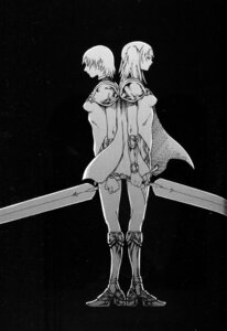 Rating: Safe Score: 7 Tags: armor binding_discoloration claymore heels monochrome sword yagi_norihiro User: Radioactive