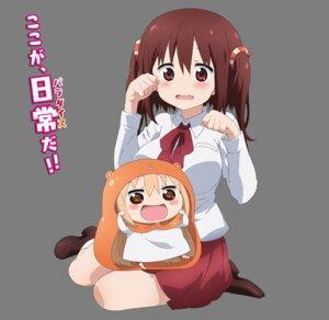 Rating: Safe Score: 44 Tags: chibi doma_umaru dress ebina_nana himouto!_umaru-chan seifuku transparent_png User: akagiss