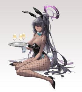 Rating: Safe Score: 30 Tags: angel animal_ears blue_archive bunny_ears bunny_girl fishnets heels kakudate_karin no_bra pantyhose tail tattoo yo_owl User: Mr_GT