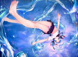 Rating: Safe Score: 70 Tags: bottle_miku feet hatsune_miku pantsu seifuku shimapan shouin vocaloid User: Radioactive