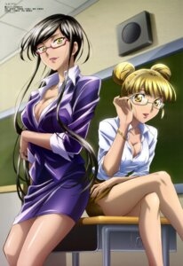 Rating: Safe Score: 44 Tags: business_suit cleavage haruno_tomoe ichikawa_yoshiyuki megane star_plus_one User: drop