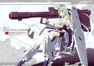Rating: Safe Score: 44 Tags: asahiage gundam gundam_unicorn mecha_musume poco thighhighs weapon User: admin2