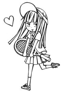 Rating: Safe Score: 8 Tags: chibi kimi_ni_todoke kuronuma_sawako monochrome tennis User: Radioactive