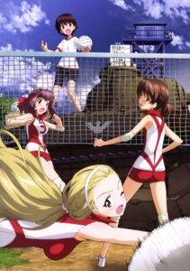 Rating: Safe Score: 15 Tags: ass bike_shorts girls_und_panzer gym_uniform isobe_noriko kawanishi_shinobu kondou_taeko sasaki_akebi User: drop