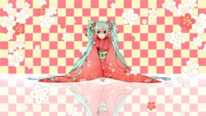 Rating: Safe Score: 18 Tags: hatsune_miku pafufu vocaloid yukata User: Brufh