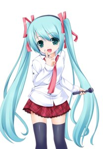 Rating: Safe Score: 32 Tags: hatsune_miku thighhighs vocaloid wata User: SciFi