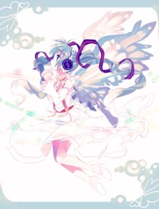 Rating: Safe Score: 22 Tags: amazawa_koma hatsune_miku headphones vocaloid wings User: Nekotsúh