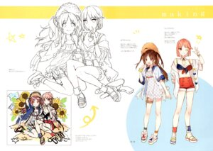 Rating: Safe Score: 8 Tags: cleavage garter gun line_art open_shirt seifuku shirako_miso sketch User: kiyoe