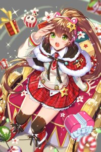 Rating: Safe Score: 20 Tags: christmas empew headphones soccer_spirits thighhighs transparent_png User: Sunimo