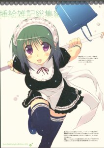 Rating: Safe Score: 9 Tags: amaduyu_tatsuki blazer_one heels maid thighhighs User: Radioactive