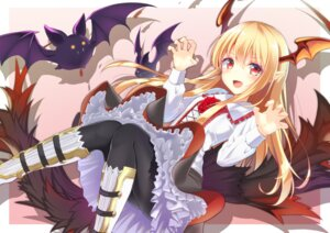 Rating: Safe Score: 63 Tags: granblue_fantasy pantyhose pointy_ears tagme tail vampy_(granblue_fantasy) wings User: Mr_GT