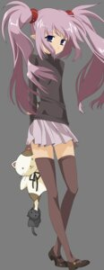 Rating: Safe Score: 13 Tags: pointy_ears primula shuffle thighhighs transparent_png vector_trace User: gohanrice
