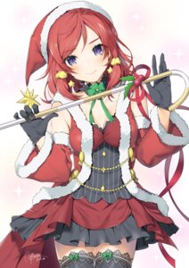 Rating: Safe Score: 44 Tags: christmas cleavage love_live! nishikino_maki thighhighs yana_mori User: BattlequeenYume