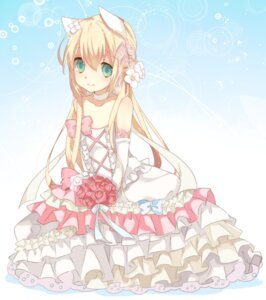 Rating: Safe Score: 30 Tags: animal_ears dress marlin_suzuki wedding_dress User: hobbito