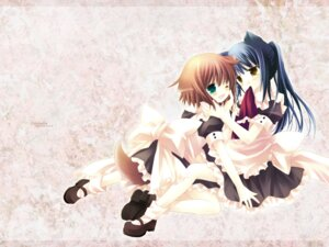 Rating: Safe Score: 10 Tags: animal_ears chronolog inumimi i.s.w nekomimi sakurazawa_izumi tail wallpaper User: noirblack