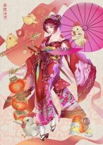 Rating: Safe Score: 14 Tags: cleavage gi_gi kimono sword tattoo umbrella User: saemonnokami