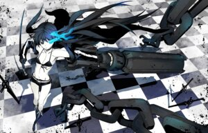 Rating: Safe Score: 39 Tags: bikini_top black_rock_shooter black_rock_shooter_(character) cleavage miwa_shirow sword vocaloid weapon User: Arkheion