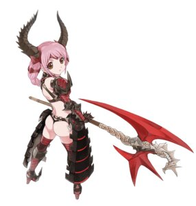 Rating: Questionable Score: 61 Tags: armor ass caee_penguin horns thighhighs thong weapon User: Deathchipelago