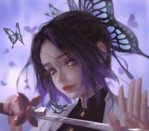 Rating: Safe Score: 14 Tags: kimetsu_no_yaiba kochou_shinobu sword uniform wlop User: andriynight