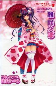 Rating: Safe Score: 15 Tags: carnelian hello_kitty kimono miyabi_sakuya thighhighs User: peoplo
