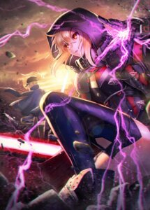 Rating: Safe Score: 28 Tags: fate/grand_order heroine_x heroine_x_alter kuroi_susumu thighhighs User: Mr_GT