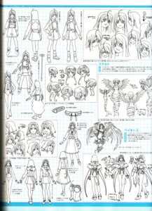Rating: Safe Score: 5 Tags: ah_my_goddess binding_discoloration character_design expression gorgeous_rose monochrome noble_scarlet peorth sketch skuld User: minakomel