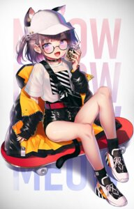 Rating: Safe Score: 34 Tags: animal_ears megane pyonsuke_(pyon2_mfg) tail User: Mr_GT