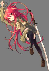 Rating: Safe Score: 20 Tags: ito_noizi seifuku shakugan_no_shana shana sword thighhighs transparent_png User: yueshana314