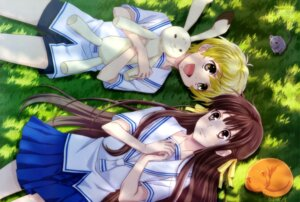 Rating: Safe Score: 12 Tags: ban_yukiko fruits_basket honda_tohru neko seifuku sohma_kyo sohma_momiji sohma_yuki User: drop