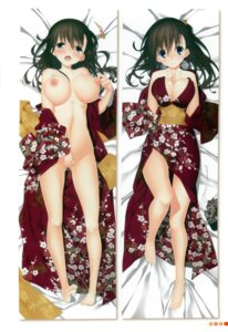 Rating: Explicit Score: 43 Tags: breast_hold breasts cleavage dakimakura kagome masturbation nipples no_bra nopan open_shirt pussy_juice User: syk111