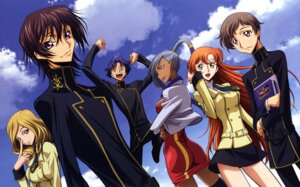Rating: Safe Score: 14 Tags: code_geass lelouch_lamperouge milly_ashford rollo_lamperouge sakamoto_shuuji seifuku shirley_fenette viletta_nu User: Aurelia