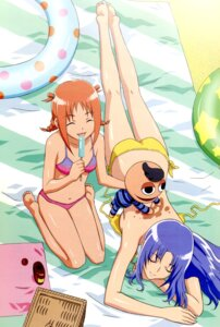 Rating: Questionable Score: 12 Tags: bikini gokujou_seitokai jinguuji_kanade pucchan randou_rino swimsuits User: boon