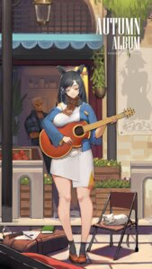 Rating: Safe Score: 29 Tags: animal_ears guitar neko pandea_work User: blooregardo
