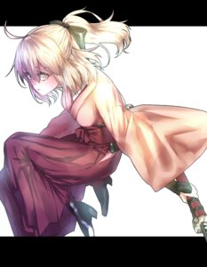 Rating: Safe Score: 15 Tags: fate/grand_order heels japanese_clothes rolua sakura_saber sword User: mash