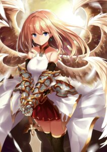Rating: Safe Score: 56 Tags: aoiro_clip armor sword takehana_note thighhighs wings User: Twinsenzw