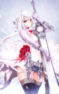 Rating: Safe Score: 83 Tags: armor gizensha sinoalice snow_white_(sinoalice) sword thighhighs torn_clothes User: NotRadioactiveHonest