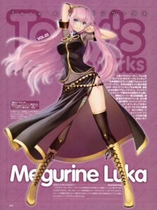 Rating: Safe Score: 95 Tags: megurine_luka thighhighs tony_taka vocaloid User: YamatoBomber