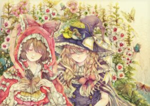 Rating: Safe Score: 8 Tags: hakurei_reimu kirisame_marisa touhou yogisya User: Radioactive