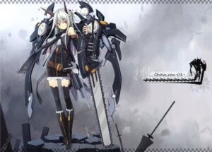 Rating: Safe Score: 35 Tags: asahiage chainsaw jpeg_fix mecha_musume poco thighhighs User: dekiboy