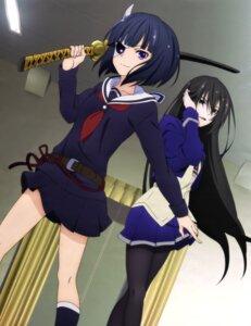 Rating: Safe Score: 42 Tags: amou_kirukiru busou_shoujo_machiavellism onigawara_rin pantyhose seifuku sword User: drop