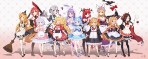 Rating: Safe Score: 48 Tags: animal_ears bunny_ears cirno cleavage dress eyepatch flandre_scarlet hakurei_reimu heels hong_meiling ibuki_suika izayoi_sakuya kirisame_marisa koakuma maid megane mio-muo1206 pantyhose patchouli_knowledge remilia_scarlet rumia thighhighs touhou wings witch yakumo_yukari User: Mr_GT