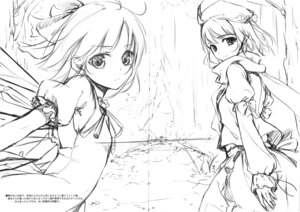 Rating: Safe Score: 15 Tags: ke-ta monochrome sketch touhou User: red_destiny