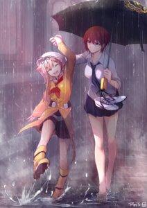 Rating: Safe Score: 40 Tags: feet female_admiral_(kancolle) kantai_collection seifuku tagme umbrella wet yuudachi_(kancolle) User: BattlequeenYume