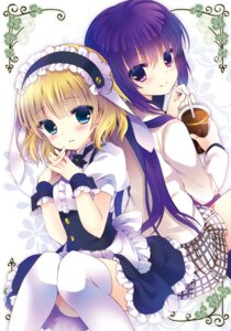 Rating: Questionable Score: 47 Tags: ash_(artist) gochuumon_wa_usagi_desu_ka? kirima_sharo tedeza_rize thighhighs User: fairyren