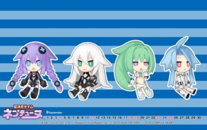 Rating: Safe Score: 19 Tags: black_heart bodysuit calendar chibi choujigen_game_neptune compile_heart green_heart purple_heart tsunako wallpaper white_heart User: WhiteExecutor