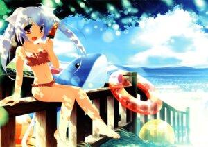 Rating: Safe Score: 19 Tags: animal_ears bikini inuneko matatapi nekomimi swimsuits User: petopeto